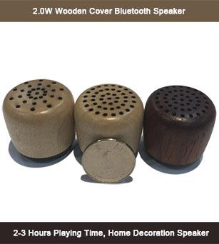 2W Wooden Cover Bluetooth Mini Wireless Speaker