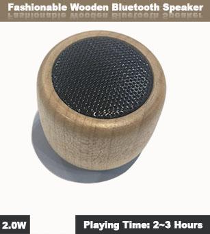 2W Home Furniture Decoration Wooden Little Bluetooth Speaker