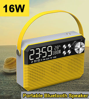 16W Superior High Pitch Portable Outdoor Bluetooth Speaker