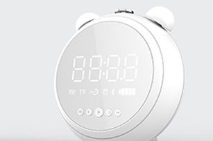 5W Bluetooth Speaker with Alarm Clock,EQ Model