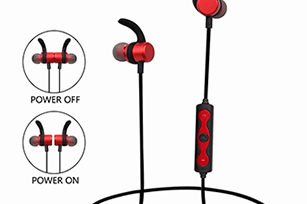 Bluetooth Wireless  Earphone with Magnetic Power on/off