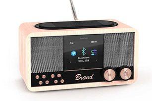 Luxury Wooden  6W Bluetooth Speaker with FM Radio/Bluetooth /Aux/ TF/ USB