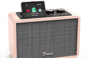 Wooden 20W Bluetooth Speaker with EQ/FM Radio/Bluetooth /Aux/ TF/ USB