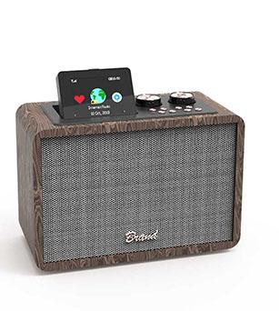 Wooden DAB+ 20W Bluetooth Speaker with EQ/FM Radio/Bluetooth /Aux/ TF/ USB